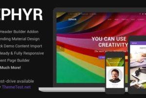 Zephyr Material Design Theme 7.15