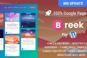 Breek Minimal WordPress Theme 3.6.6