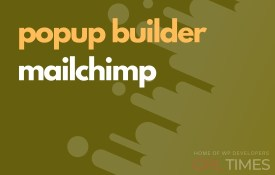 popup build mailchimp