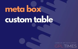meta box custom table