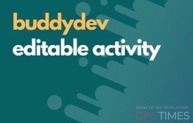 buddydev editable activity