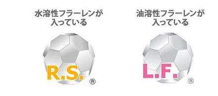 RSマークとLFマークがフラーレン化粧品の品質の証