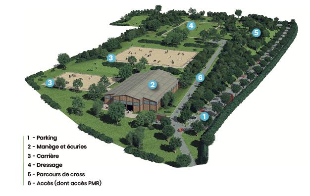 Plan d'aménagement du centre équestre de Chevannes
