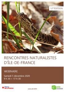 12e Rencontres naturalistes d'Île-de-France - Webinaire @ En ligne