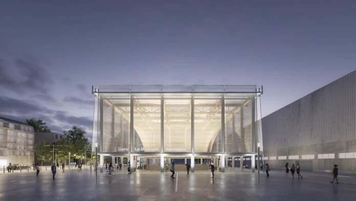 Perspective Gare Le Bourget aéroport grand paris express