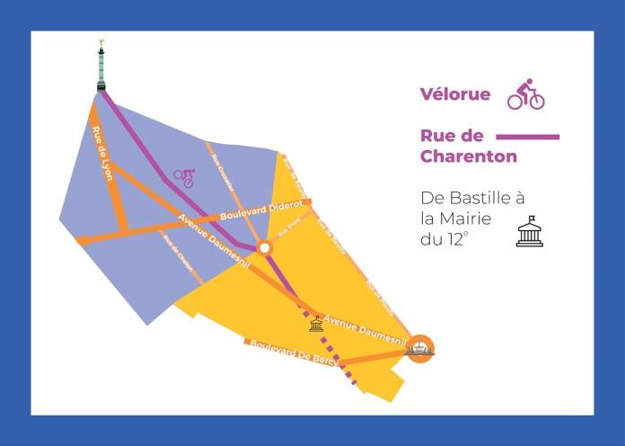 vélorue rue de charenton