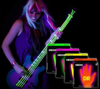 Dr Strings - NYB45 Bass 45-105 Neon HiDef Yellow SuperStrings