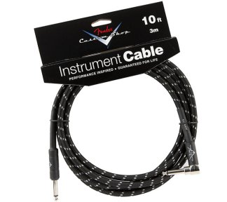 Fender - Custom Shop Performance Angled Cable 3m, Black Tweed