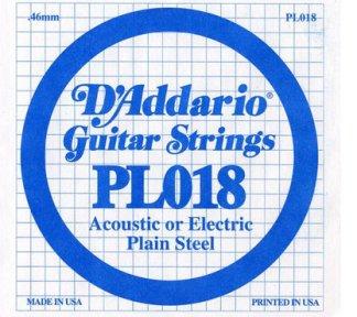 D'Addario - PL018, Single plain steel string