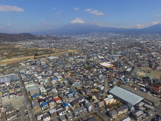 富士市から富士山ドローン撮影