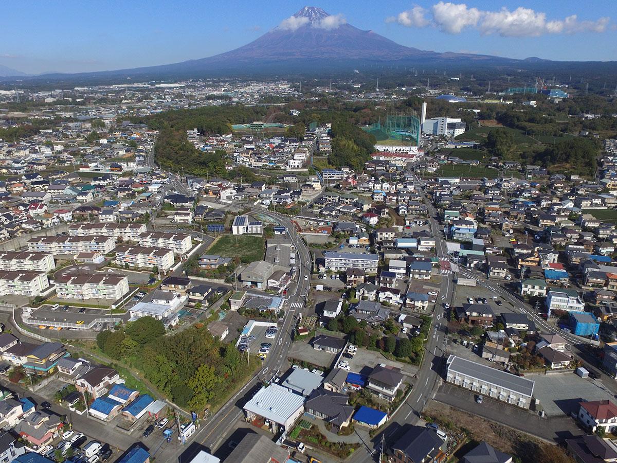 富士市石坂から富士山