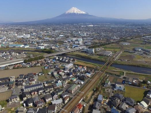 身延線と富士山