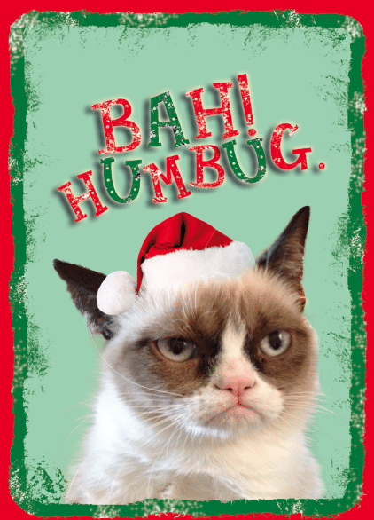 Grumpy Cat Christmas card