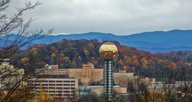 Knoxville skyline | Image courtesy of Hilton Knoxville