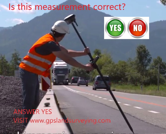 Is it possible to Survey without vertically holding the GPS Pole