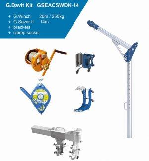 Globestock G.Davit Trench Kit 2 G.Saver, G.Winch & Adjustable Clamp Socket Kit GSEACSWDK