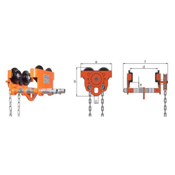 William Hackett WH-GT Geared Trolley – Standard Beam Range