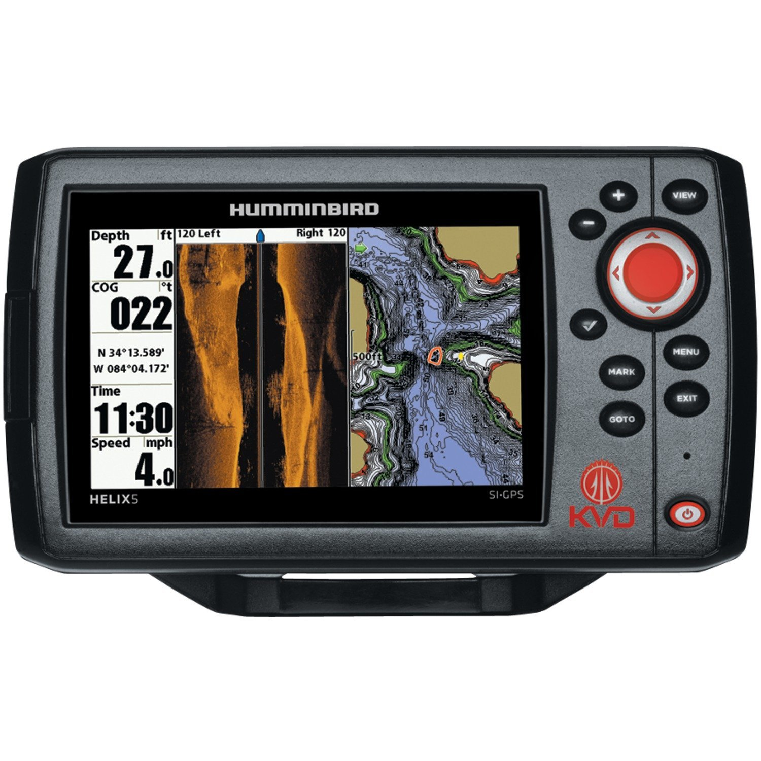 Humminbird 409640-1 HELIX 5 SI Fish Finder with Side Imaging and GPS