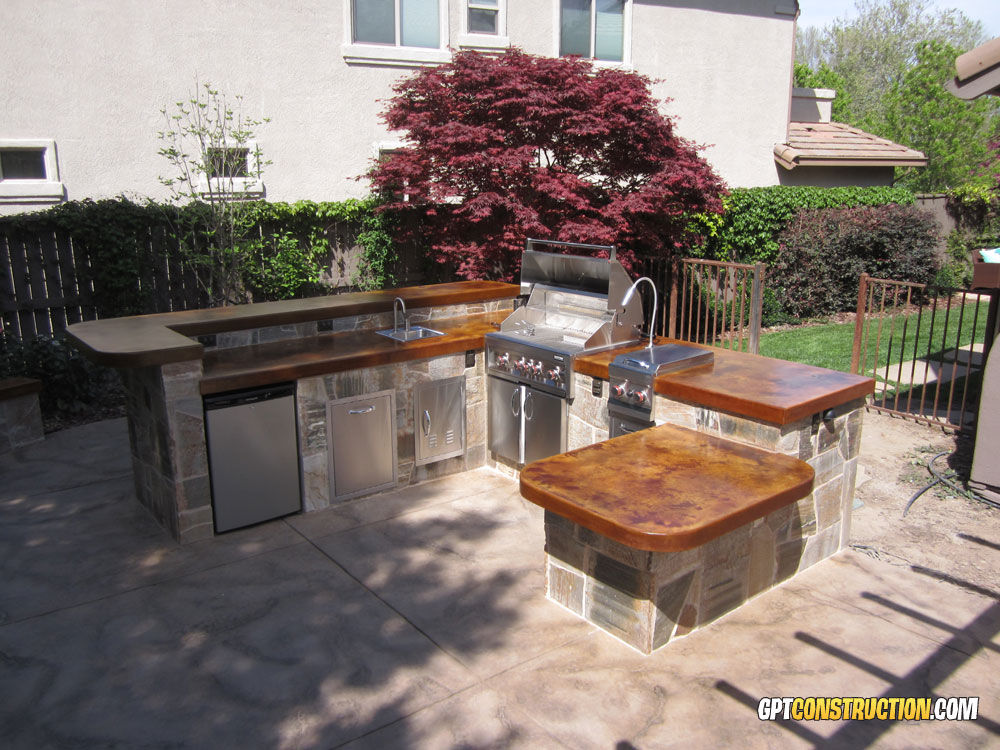 BBQ Island FireplaceGPT Construction on Backyard Patio Grill Island id=34584
