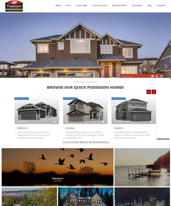 prominent homes canada