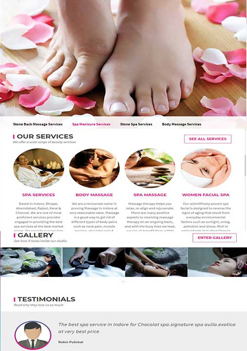 Beauty and Spa Website