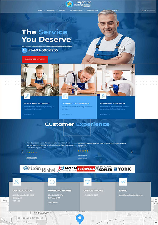 Plumber Website Development