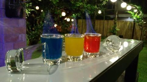 Flaming shots