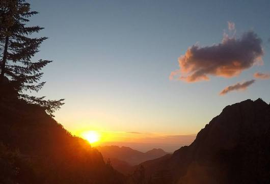 coucher de soleil sur le GR20