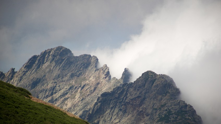 Cloud and mountains - Corsica