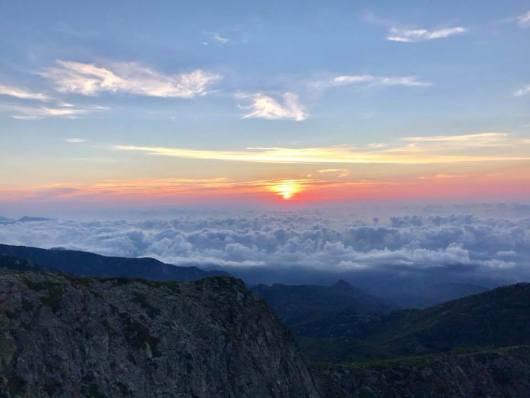 La montagne Corse - Une mer de nuages
