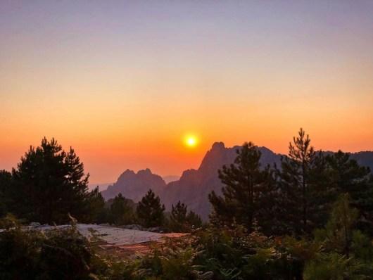 coucher du soleil corse