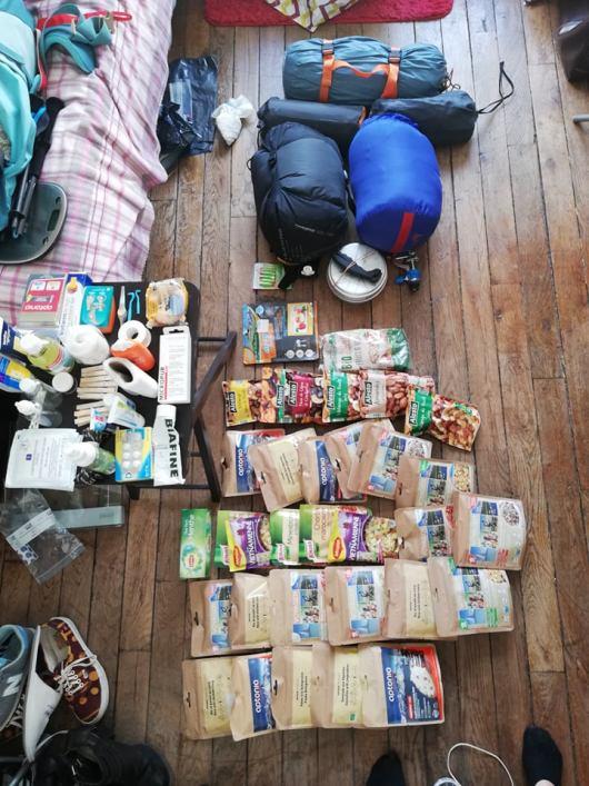 preparation-sac-randonnée-gr20-julie