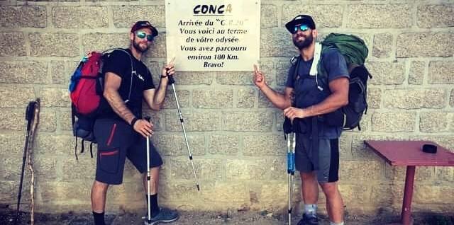 Ben et Micka - arrivée GR20 - Conca