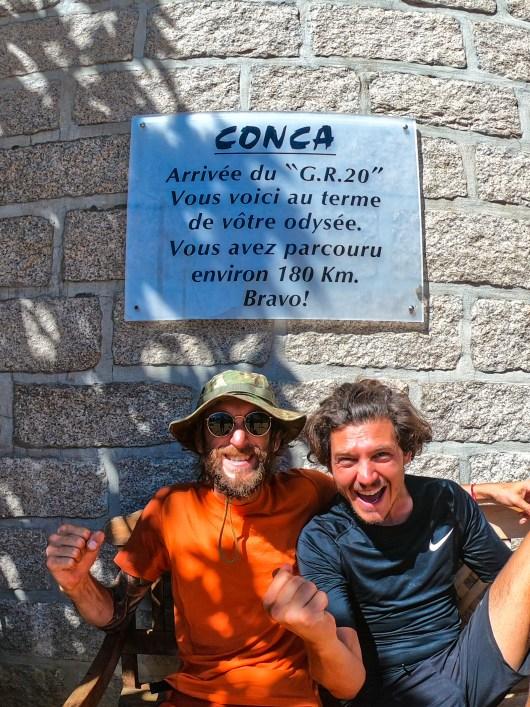 Arrivée à Conca - Fabrice et Perett