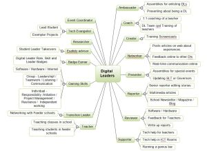 Digital Leader Roles and Skills mind map 29-01-14