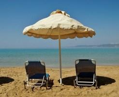 夏の紫外線、海