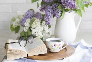本、カフェ、休憩