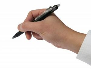 文字、ペン、手