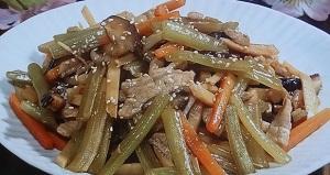 ふきと豚肉の中華風炒めのレシピ【昼まで待てない】関とみ子