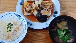 【男子ごはん】アサリのお吸い物&焼き豆腐のアサリあんかけのレシピ!