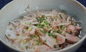 【あさイチ】魚肉ソーセージの汁ビーフンのレシピ!ヤミーさんの5分で出来る