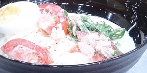 【ごごナマ/金曜日】トマトとツナのミルクそうめんのレシピ!そうめん二郎