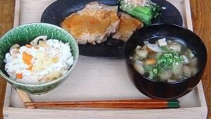 【男子ごはん】豚ロースの白味噌焼きのレシピ!青菜のおひたしも