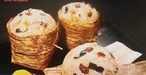【有吉ゼミ】藤あや子の豪快レシピ!揚げ餅でちまきに!中華風巨大おむすび