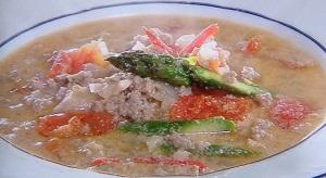 スッキリ:魔法の美腸スープのレシピ!Atsushiのポークトマト豆乳スープ
