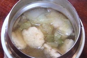 ZIP:奥園壽子先生の鶏団子スープのレシピ!スープジャーで時短レシピ