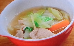 土曜はナニする:鶏ひき肉とたらこカリフラワーのスープのレシピ!魔法のスープ