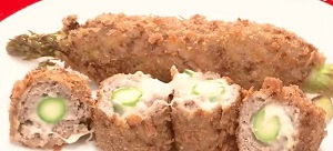 鉄腕ダッシュ日本列島ごちそうSP:王様アスパラ丸ごとメンチカツのレシピ!