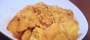ヒルナンデス スパイスカレー:パンプキンチキンカレーのレシピ!印度カリー子