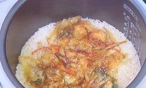 かき揚げの炊き込みご飯